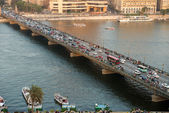 El-Tahrire bridge in Cairo — Foto Stock