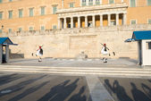 Cerimonia del cambio evzones oltre — Foto Stock