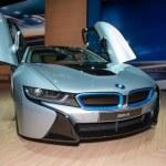 Постер, плакат: BMW i8 plug in hybrid sportscar