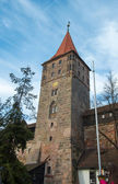 Old Town architecture in Nuremberg — Stock Photo