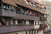 старый город архитектуры в нюрнберге — Стоковое фото