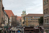 ニュルンベルクでのハウプトマルクト — ストック写真