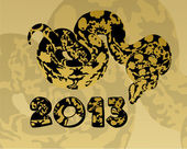 Background with a snake for 2013 — Stock Photo