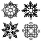 Colección de los copos de nieve — Vector de stock