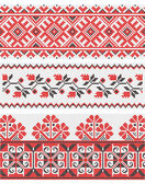 Collection of vegetative ornaments in the Ukrainian style — Stock Vector