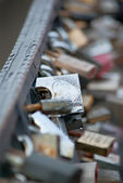 Locks on a bridge — Stock Photo