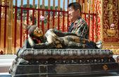 Buddhist prayer — Stock Photo