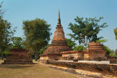 Ruins of buddhist temple — Stock Photo