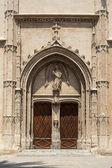 Portale d'ingresso del monumento di la lonja — Foto Stock