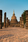 Ruins of buddhist temple — Stock Photo