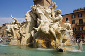 The fountain of four rivers — Stockfoto