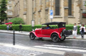 Red retro car — Stock Photo
