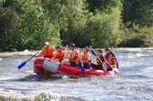Whitewater rafting — Stock Photo