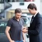 Sale of automobiles — Stock Photo