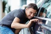 Presso il salone dell'auto — Foto Stock