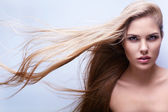 Flying hair — Stock Photo