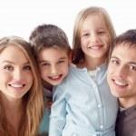 Smiling family — Stock Photo