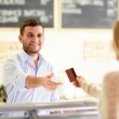 At the counter — Stock Photo