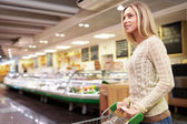 Woman in the store — Stock Photo