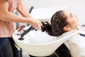 Treatment of hair — Stock Photo