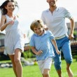 Running family — Foto Stock