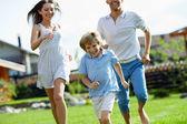 Running family — Stock Photo