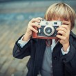Little photographer — Stock Photo #36935801
