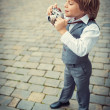 Stock Photo: Little photographer