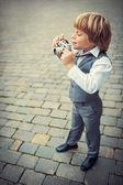 Fotógrafo poco — Foto de Stock