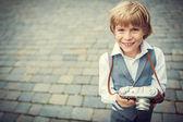 Niño sonriente — Foto de Stock