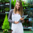 Smiling saleswoman — Stockfoto #38483669