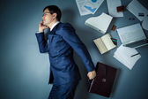 Busy man — Stock Photo