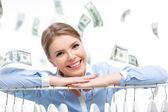 Spending money — Zdjęcie stockowe