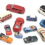 Toy car on white macro — Stock Photo #1690845