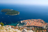 View on The city of Dubrovnik in Croatia — Foto Stock