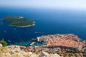 Visa på staden dubrovnik i kroatien — Stockfoto