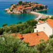 Montenegro  Island of Sveti Stefan - Stock Photo