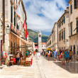 Pedestrian street in Dubrovnik — Stock Photo