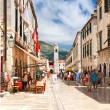 Pedestrian street in Dubrovnik - Stock Photo