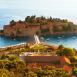 Resort Island of Sveti Stefan Montenegro - Stock Photo