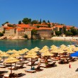 Island of Sveti Stefan Montenegro - Stock Photo
