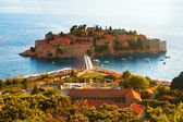Resort Island of Sveti Stefan Montenegro — Stock Photo
