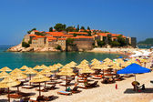 Island of Sveti Stefan Montenegro — Stock Photo