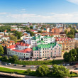 Panorama of old Vyborg town with port — Photo