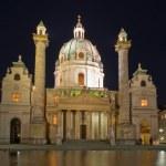 Karlskirche in Vienna, Austria at night — Stock Photo #29958173