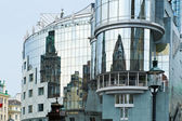 Reflection of old buildings in Vienna — Stock Photo