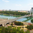 Bridge from castle - Bratislava, Slovakia — Stock Photo