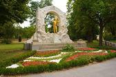 Johann Strauss Golden Statue — Stock Photo