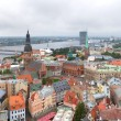Panorama Riga center with Daugava river — Stock Photo