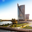 View of the modern house on the waterfront Riga Latvia — Stock Photo #33342779